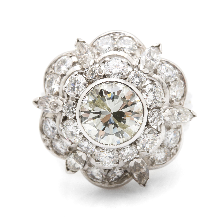 Platinum 4.27 CTW Diamond Ring