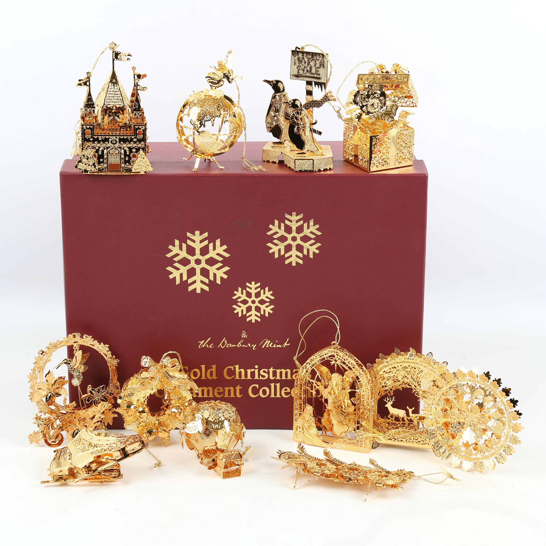 """Danbury Mint """"Millennium 2000"""" Christmas Ornament Collection"""