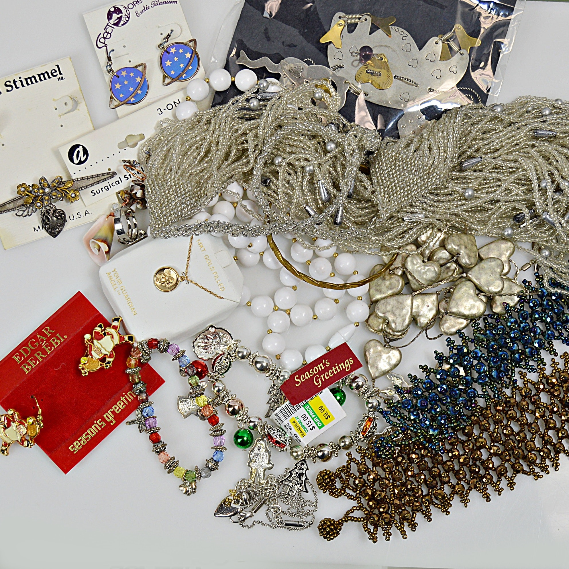 Holiday Jewelry and Vintage Beaded Jewelry