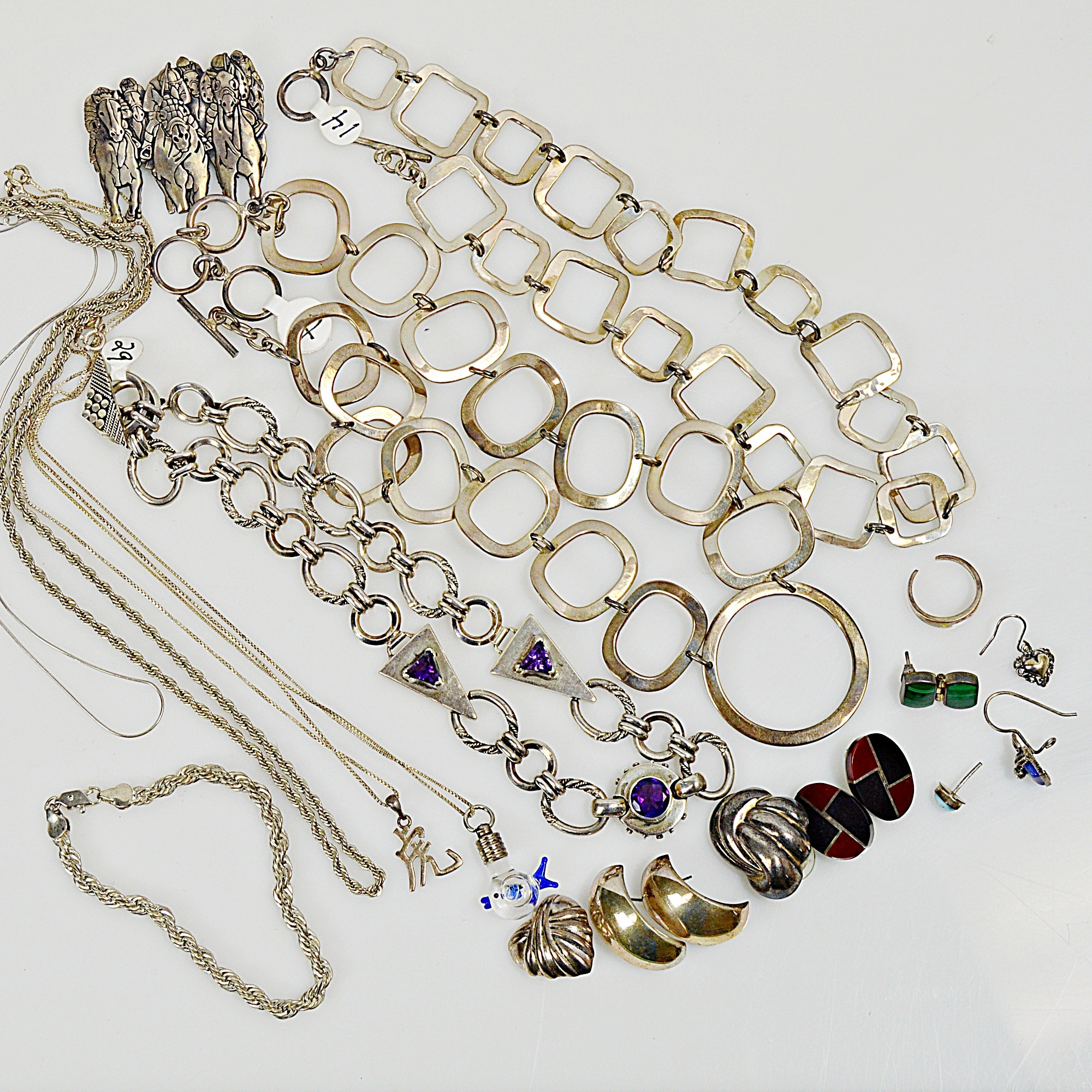 Taxco Mexico Sterling and Other Sterling Silver Jewelry