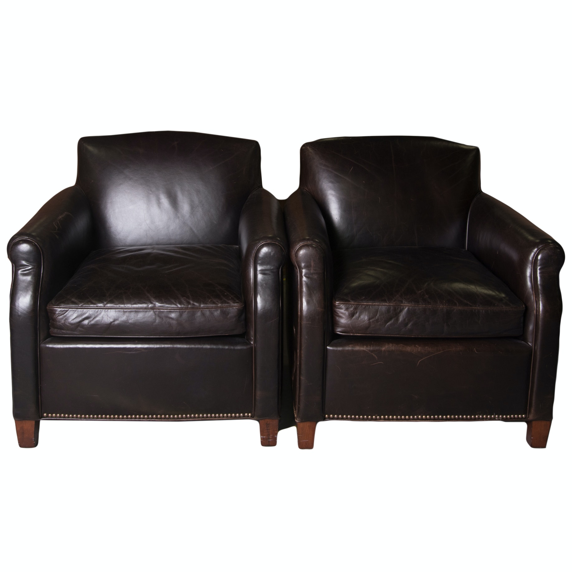 Pair Of Old Colony Furniture Arm Chairs ...