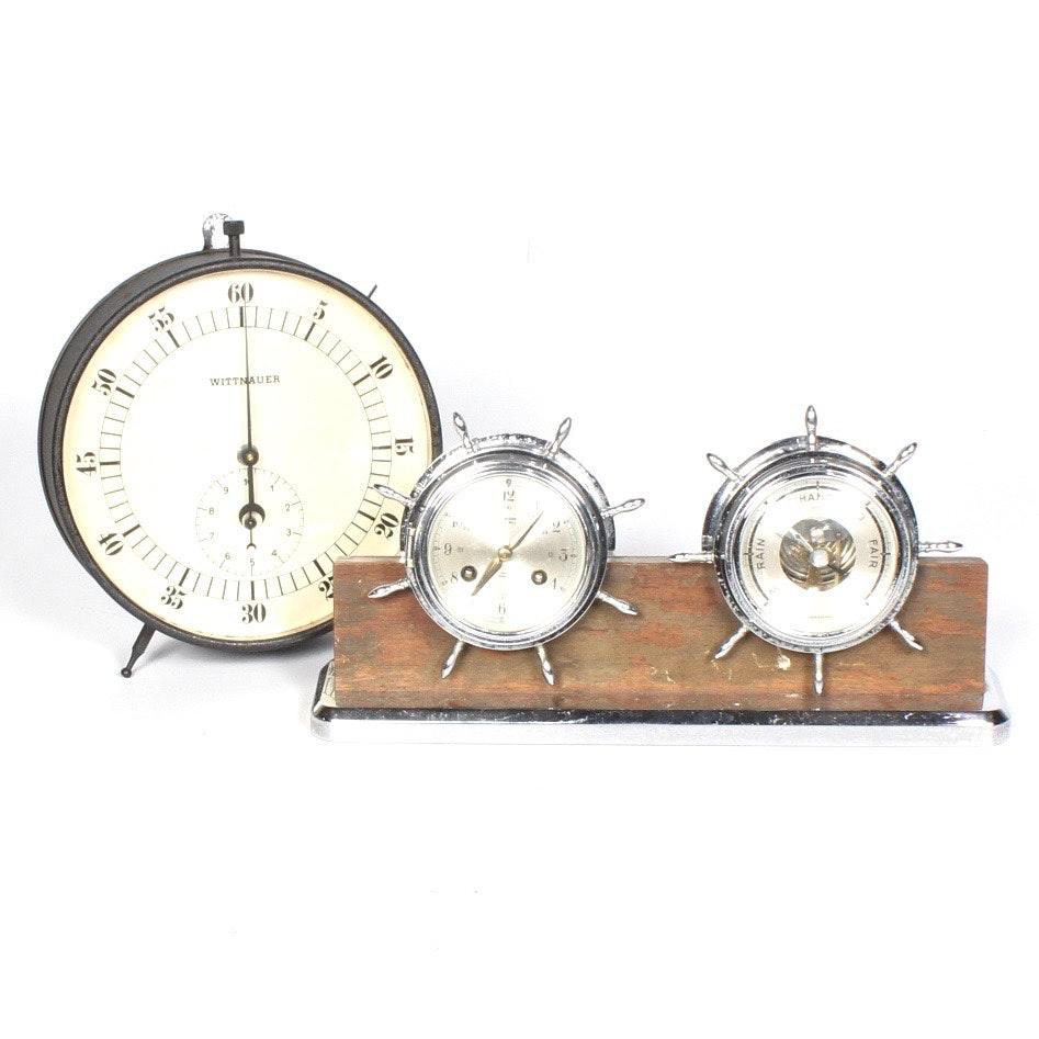 Desk Clocks and Barometer