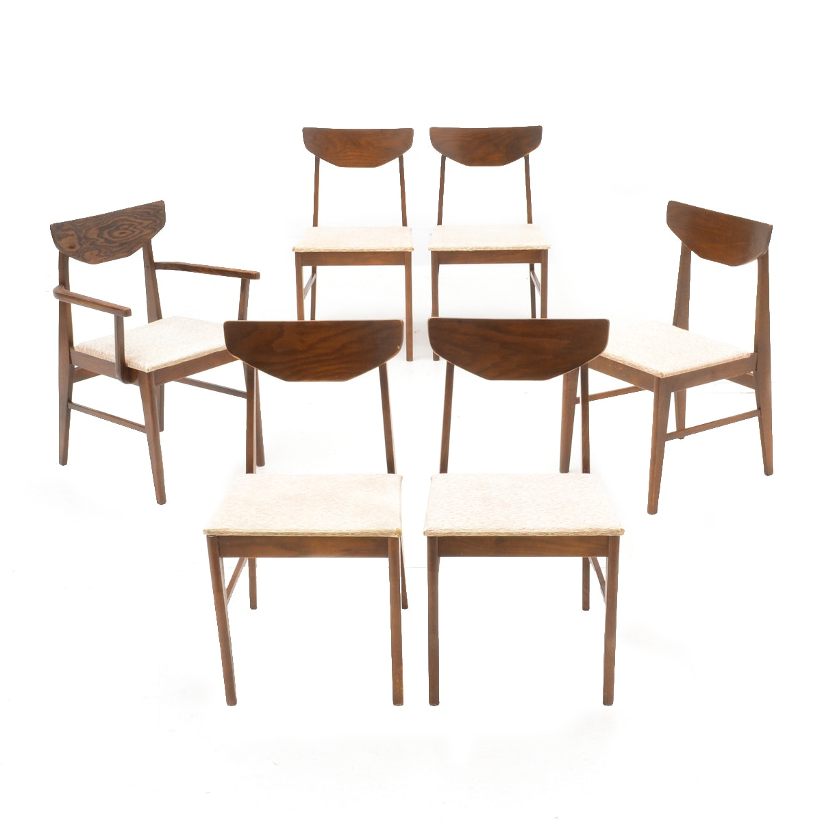 Set of Mid Century Modern Dining Chairs