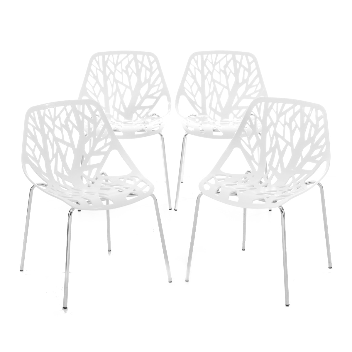 Set of Four Contemporary Modern Chairs