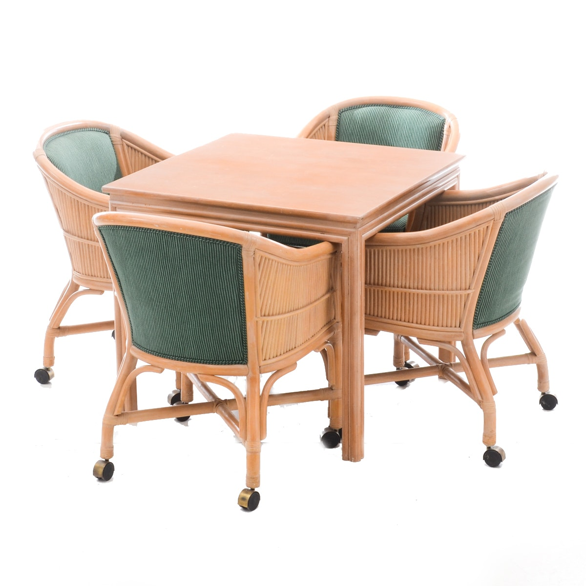 Mid Century Modern Blonde Hardwood Dinette Set