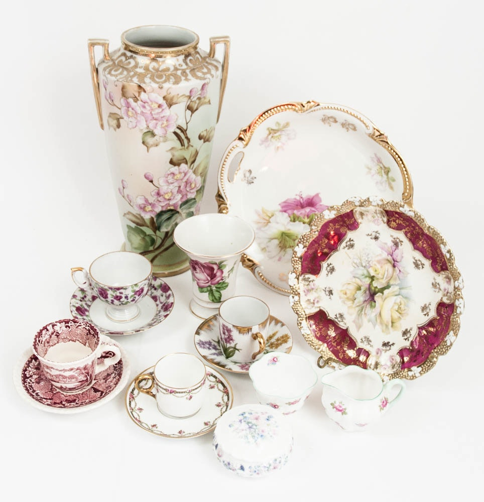 Fine China Collectibles including Imperial Nippon Vase