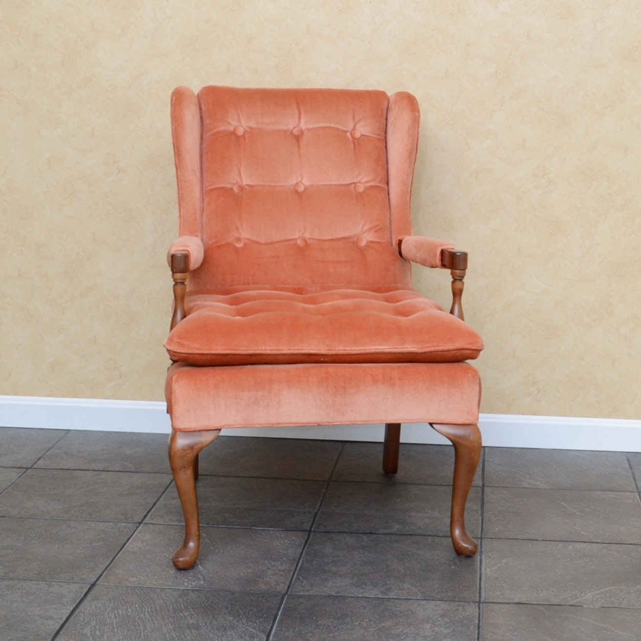 Mid Century Wingback Chair By Conover Chair Company ...