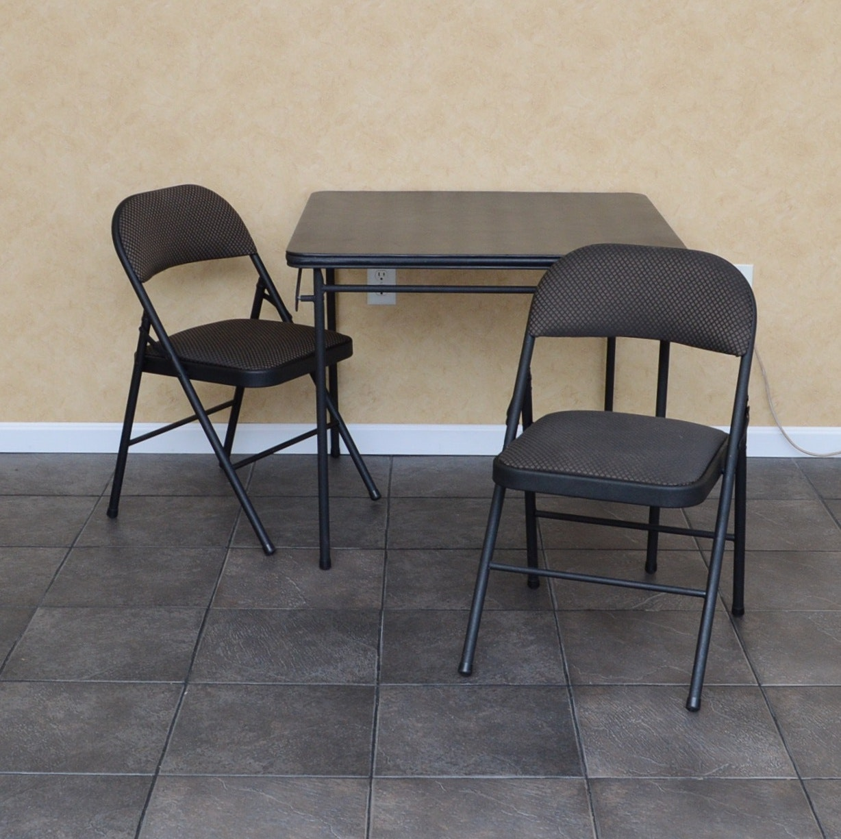 Cosco Folding Card Table and Two Folding Chairs