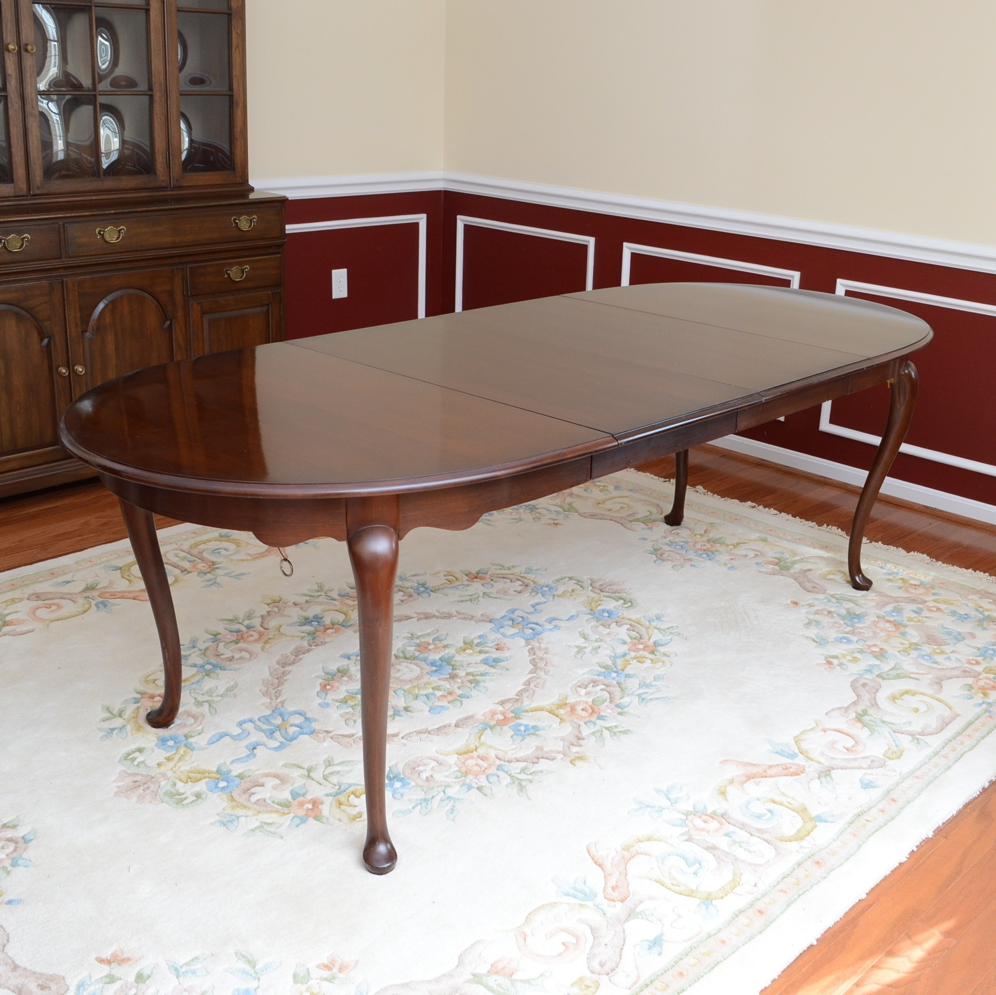 Queen Anne-Style Extension Table by Monitor Furniture Company
