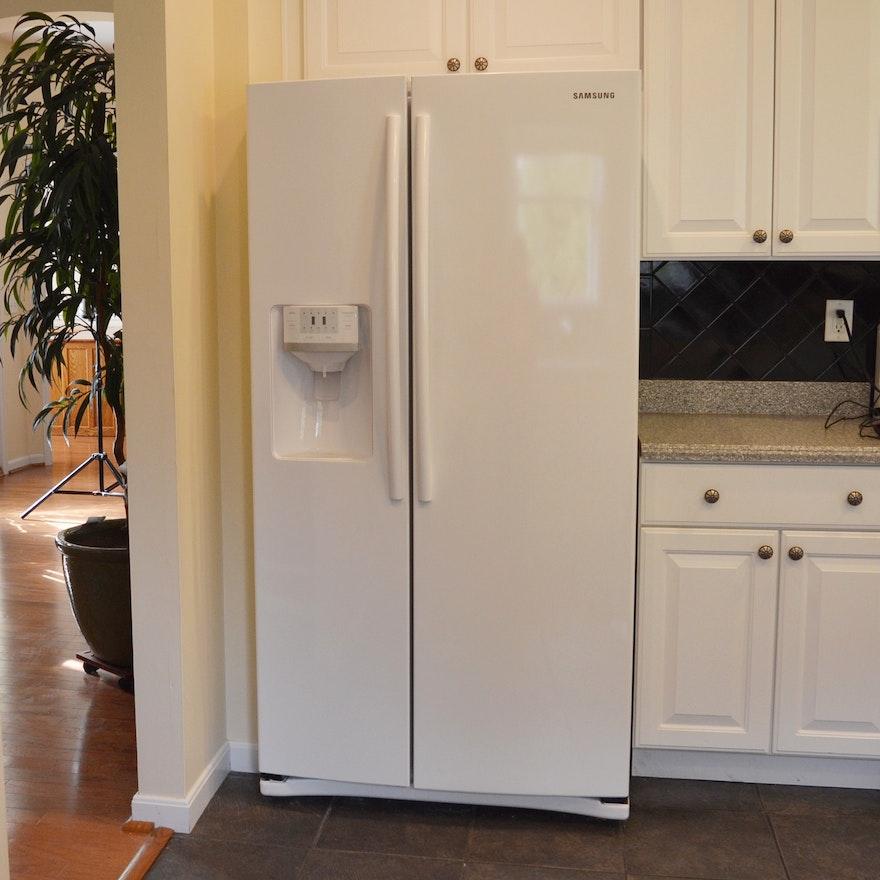 Samsung White Side By Side Refrigerator Freezer Ebth