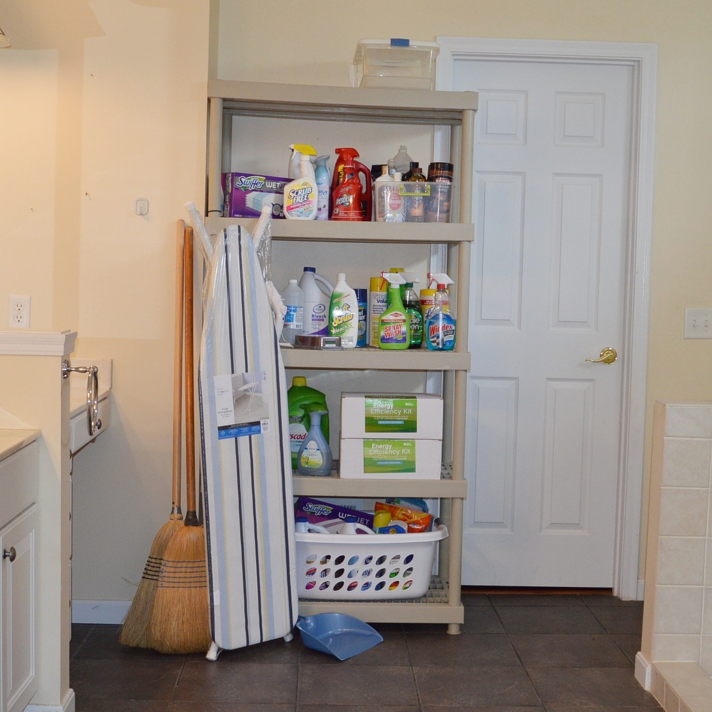Household Supplies with Shelving