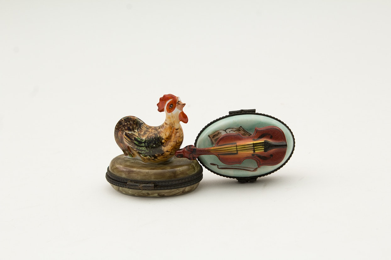 Porcelain Limoges Hand-Painted Trinket Boxes