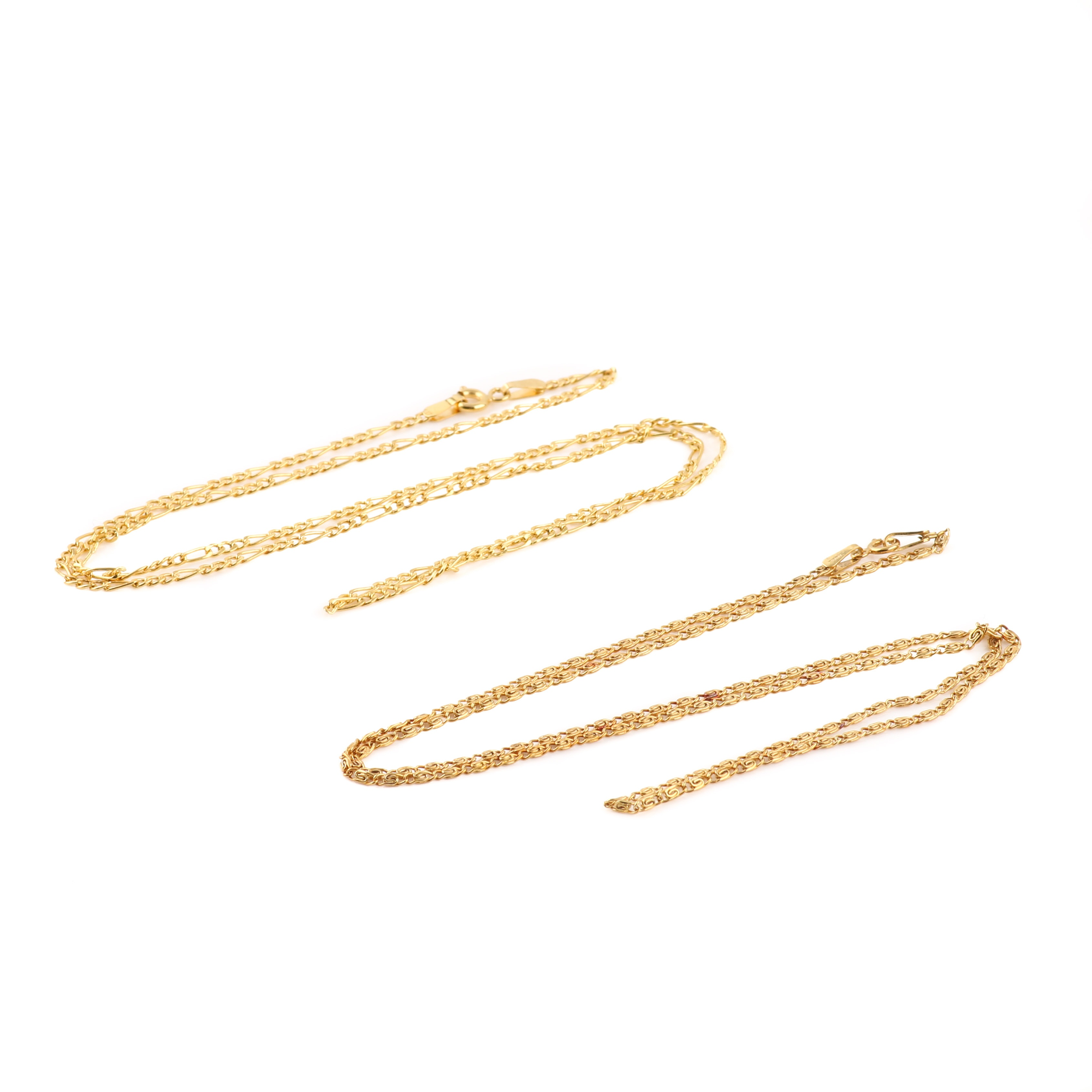 10K Yellow Gold Chain Necklaces