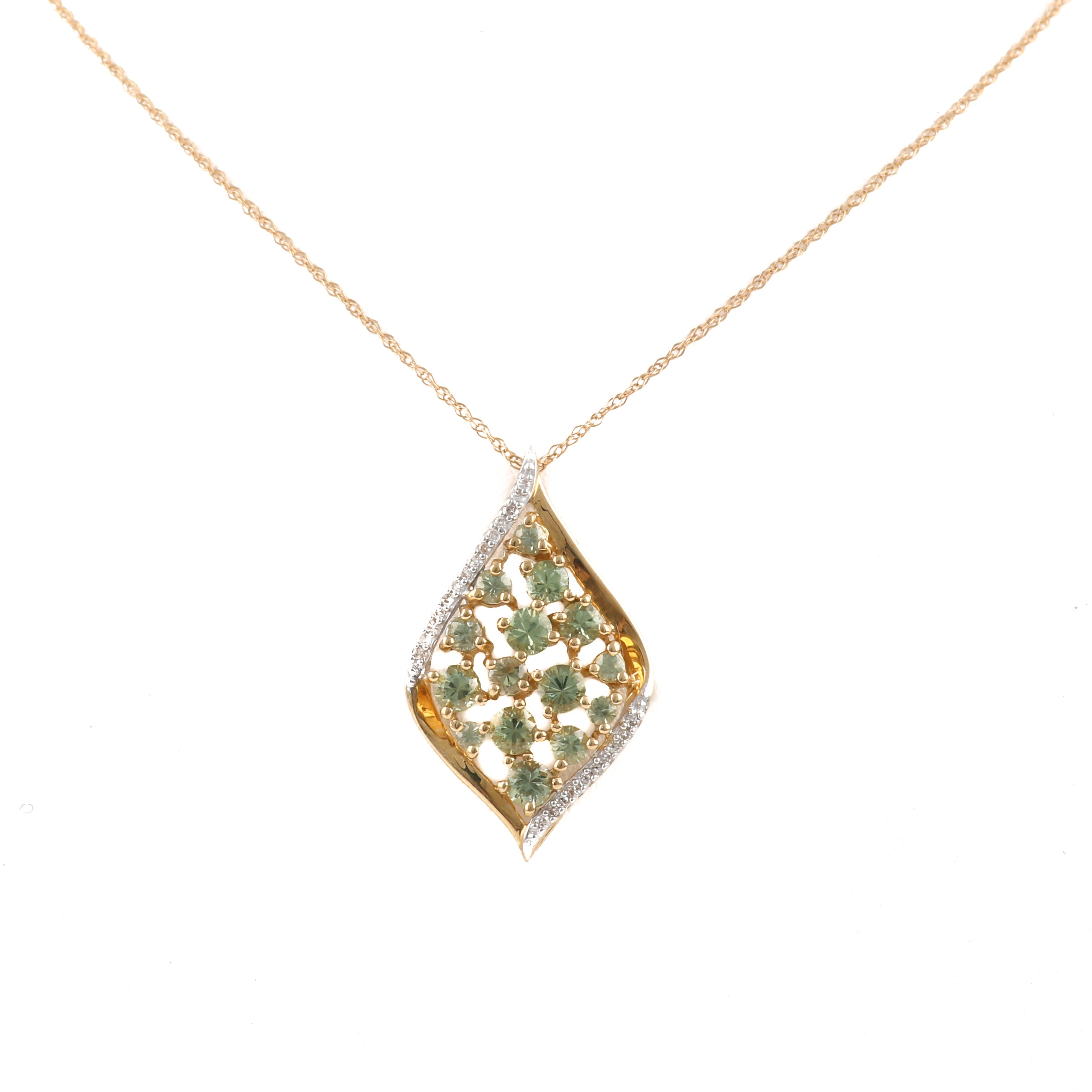Alwand Vahan 14K Yellow Gold Chrysoberyl and Diamond Necklace