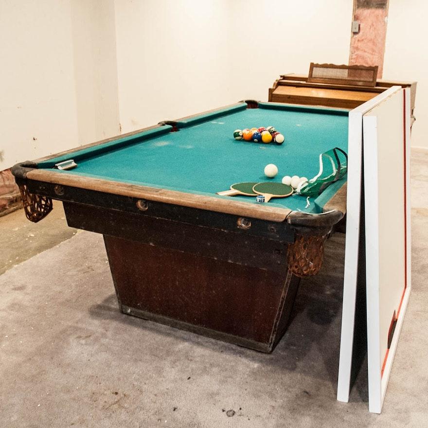 The National Billiard Mfg Co Pool Table EBTH - Topline pool table