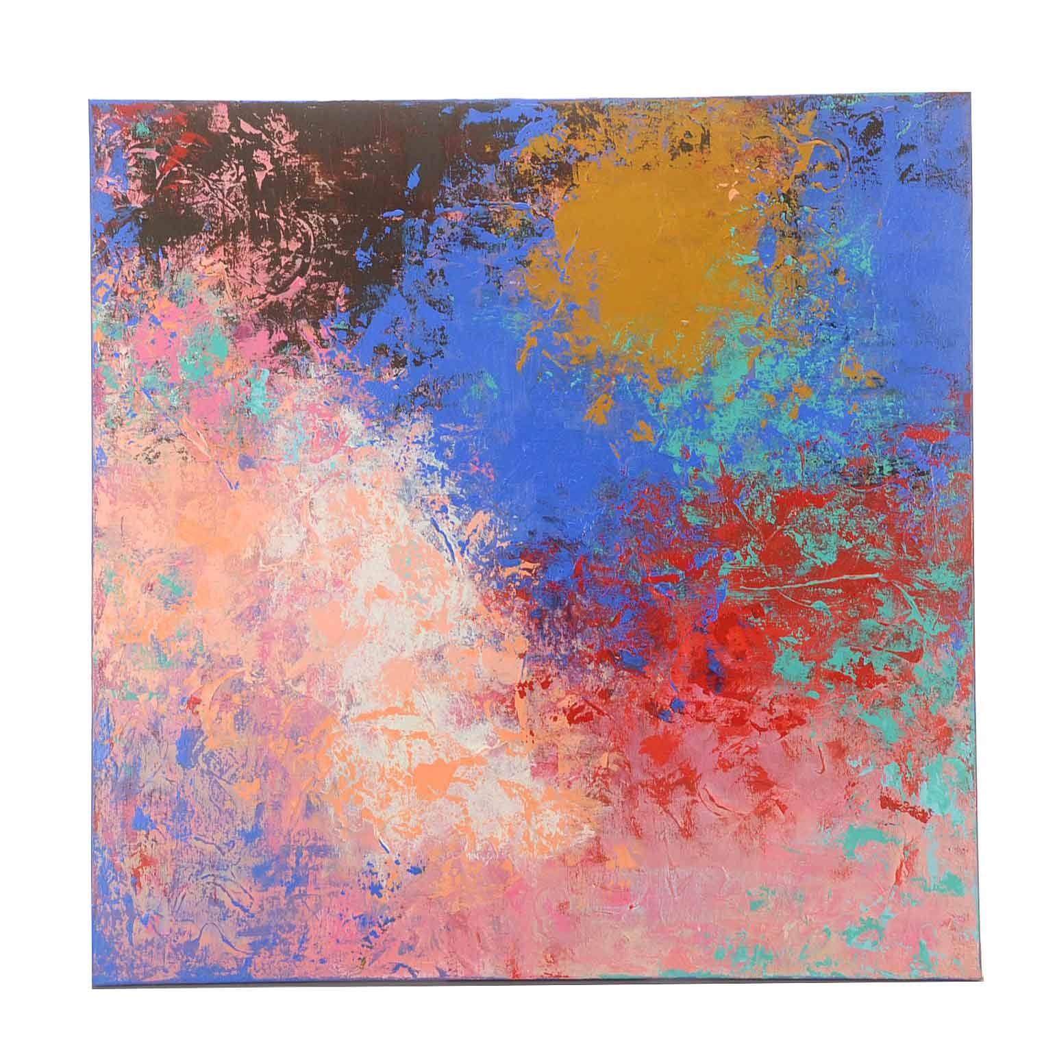 """Sanna Acrylic Painting on Canvas """"Early Trip"""""""