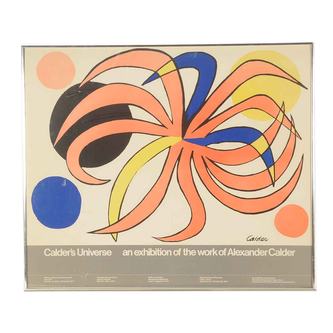 Whitney Museum of American Art Alexander Calder Exhibition Poster