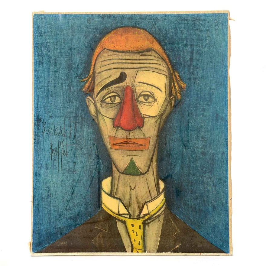 Brilliant Offset Lithograph After Bernard Buffet Tete The Clown Interior Design Ideas Apansoteloinfo