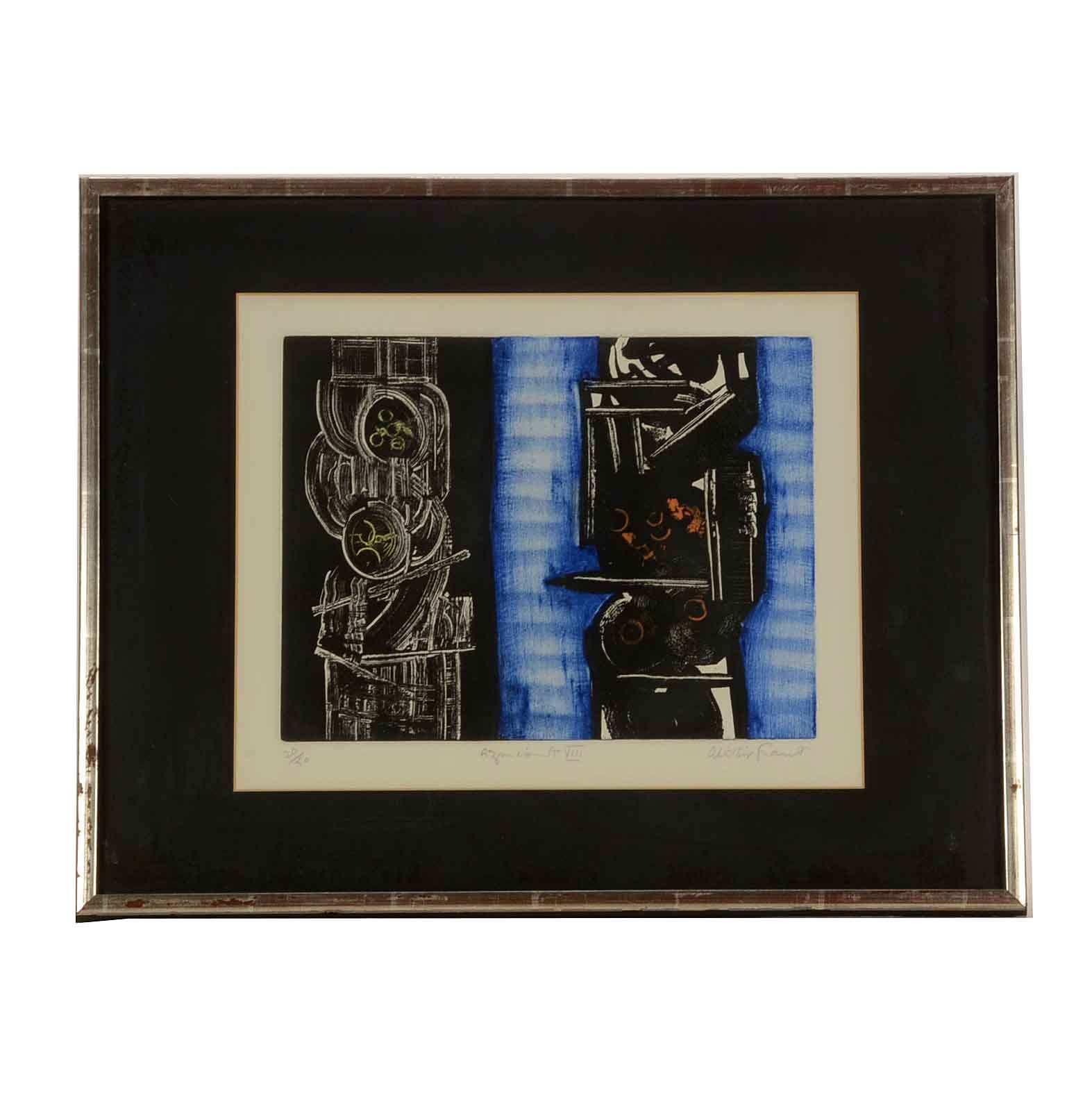 "Alistair Grant Limited Edition Etching  ""Azincourt VIII"""