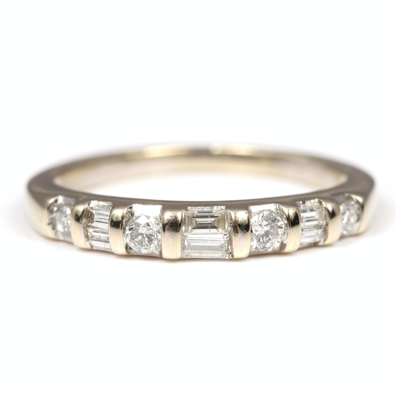 10K White Gold Diamond Band