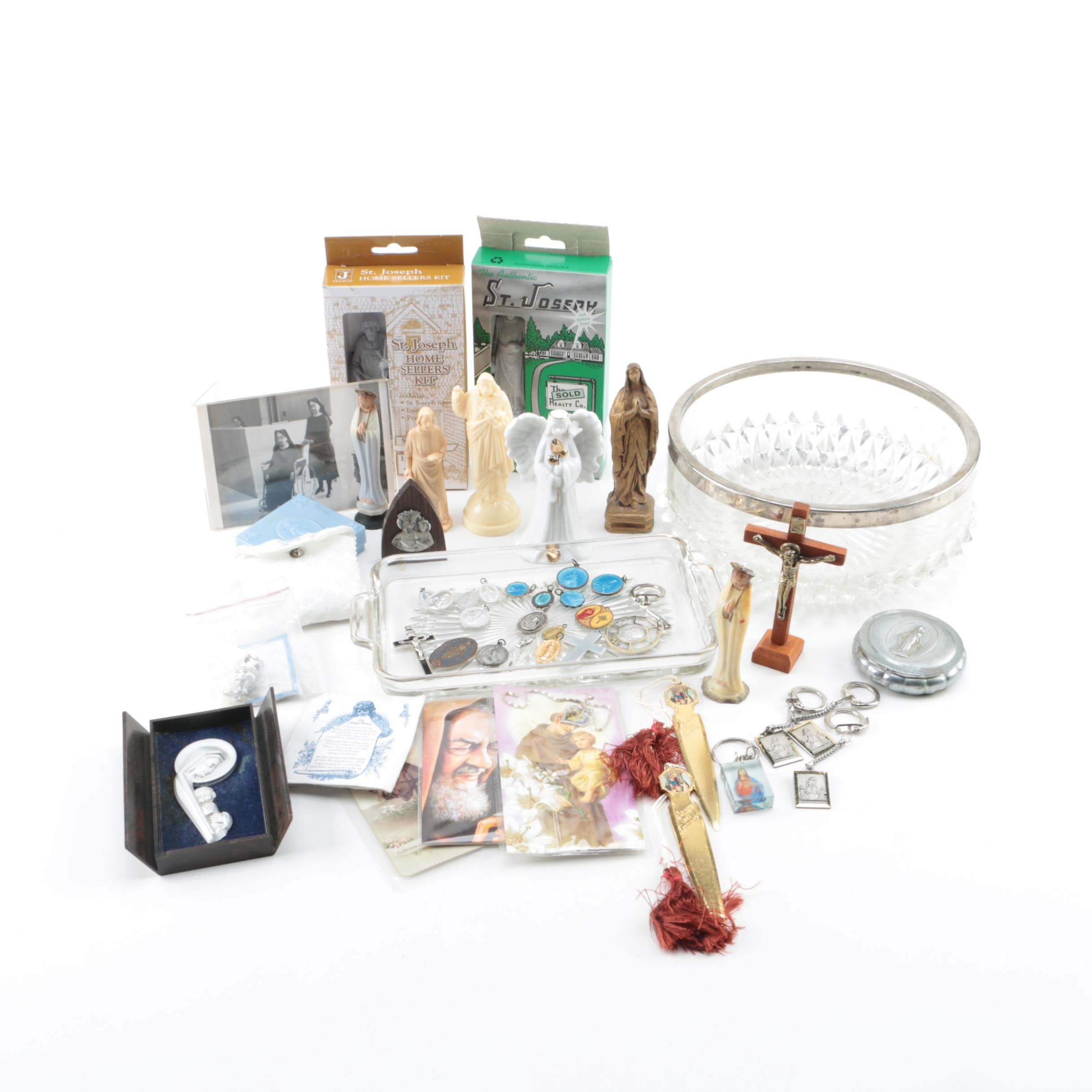 Religious Collectibles And Glassware Dishes
