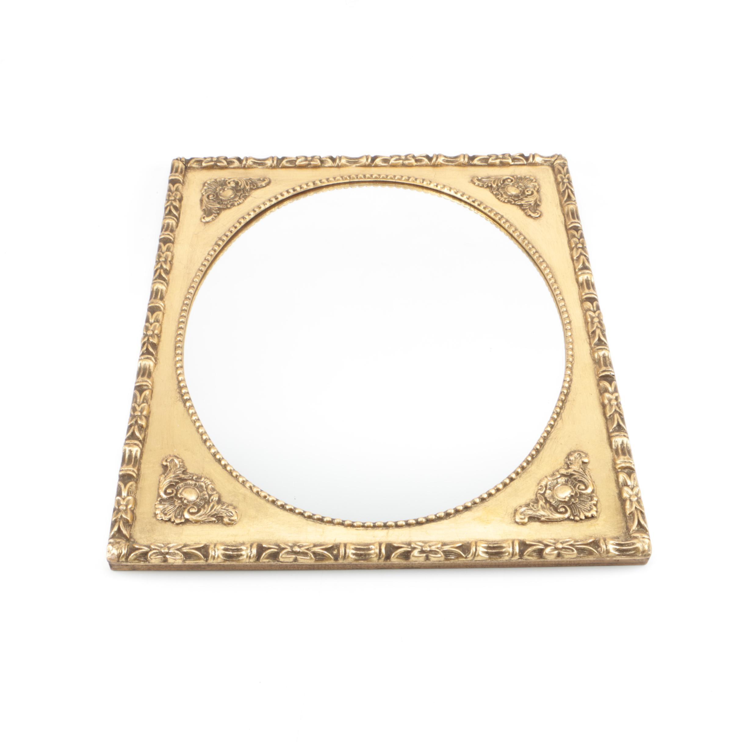 Gold Gilt Ornately Framed Wall Mirror