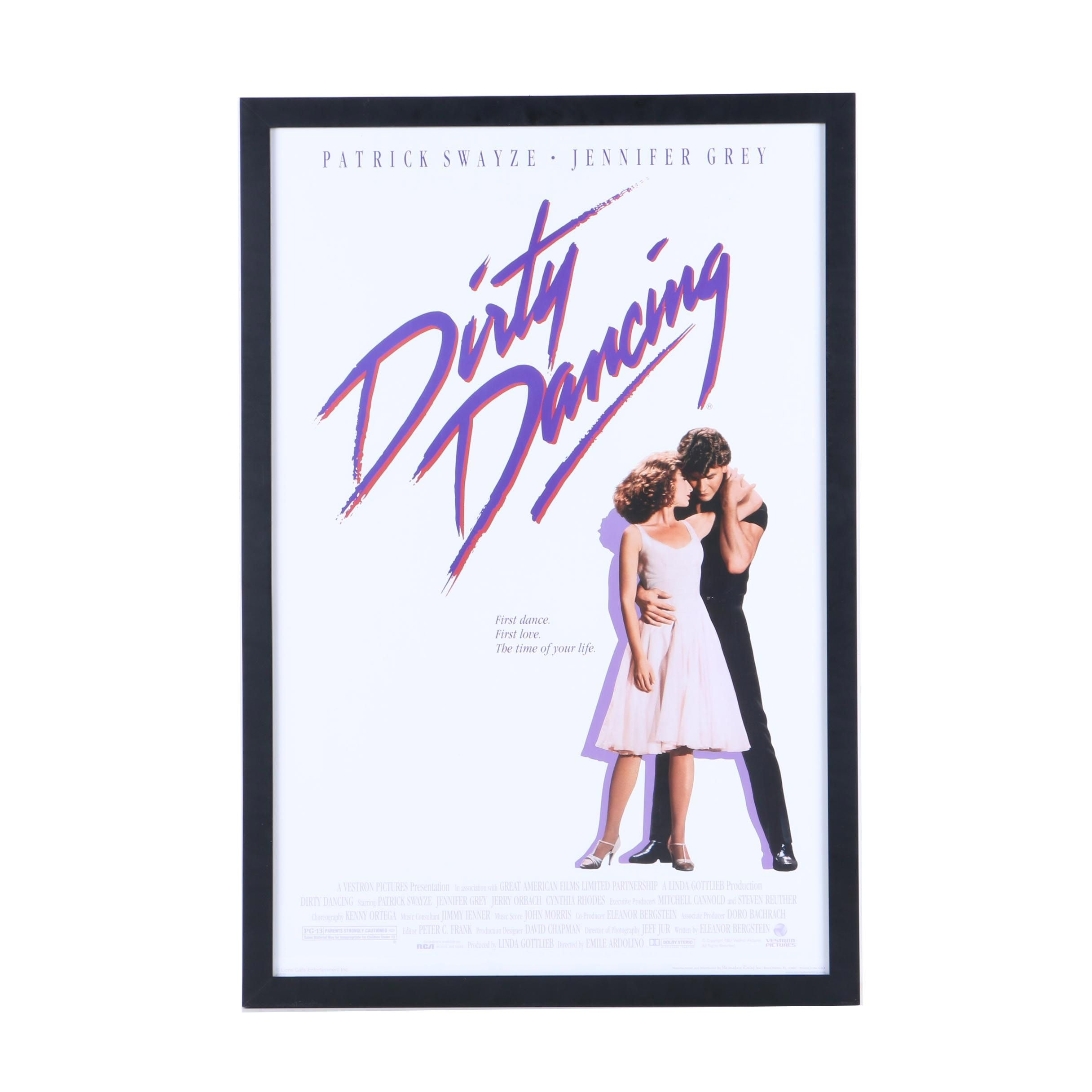 """""""Dirty Dancing"""" Reproduction Movie Poster"""