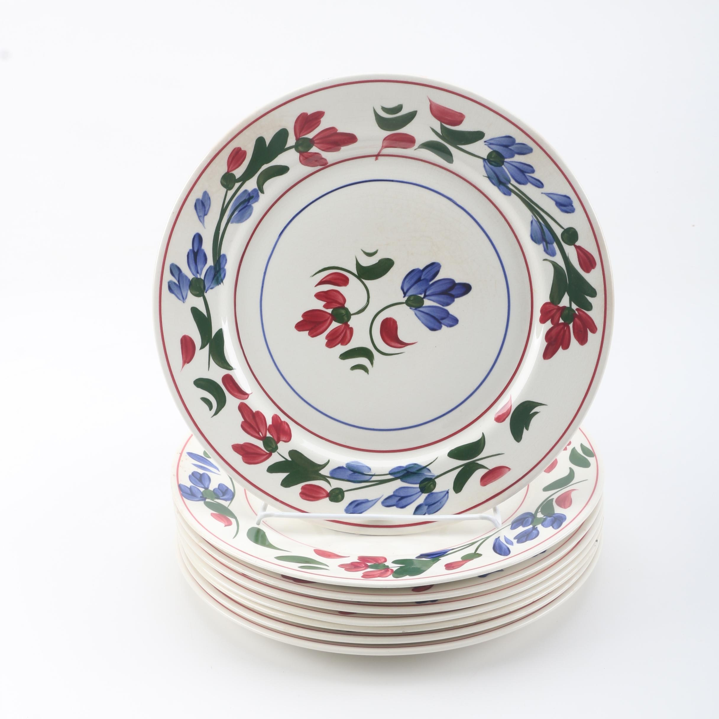 Hand-Painted Blue Ridge Southern Potteries Plates