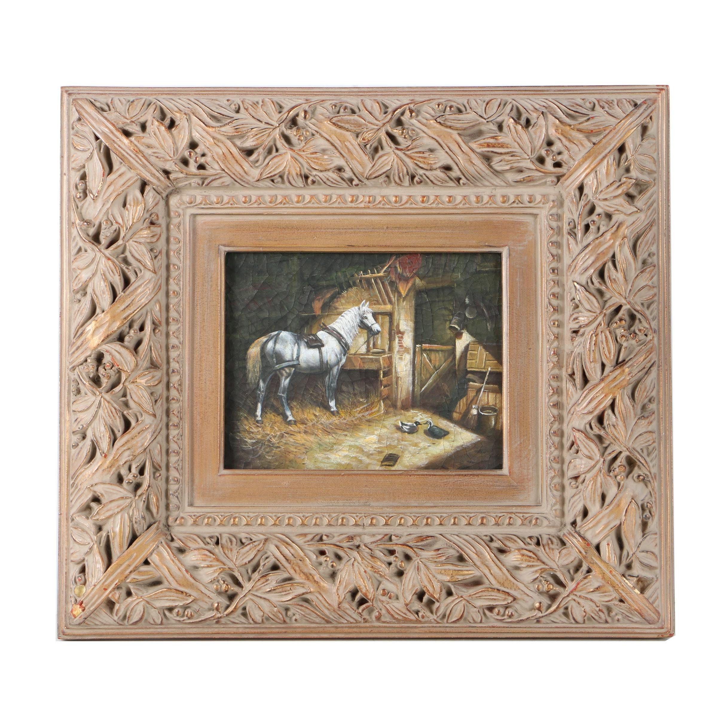 Copy Oil Painting in the Manner of John Frederick Herring, Sr.