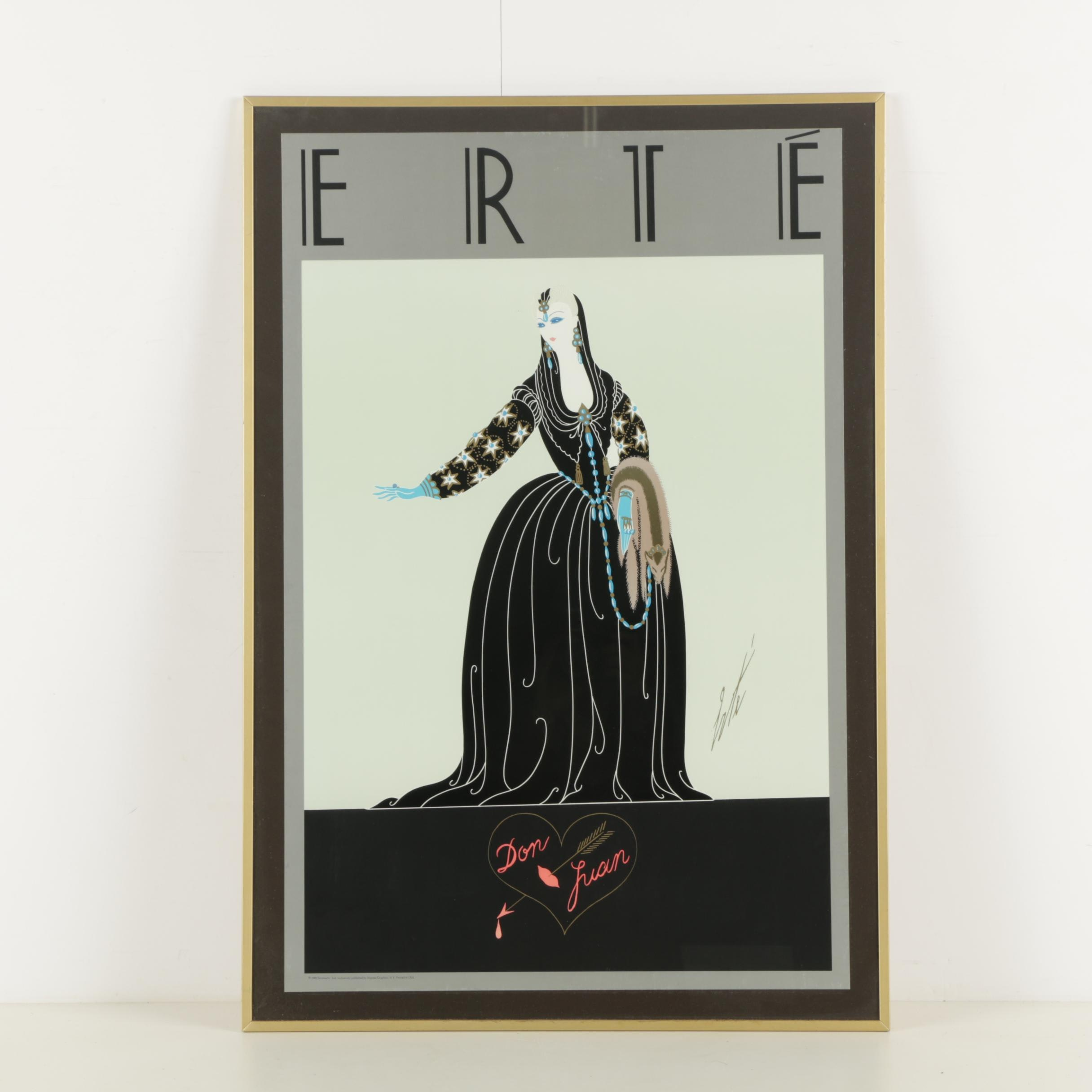 "1983 Erte ""Don Juan"" Lithograph Poster"