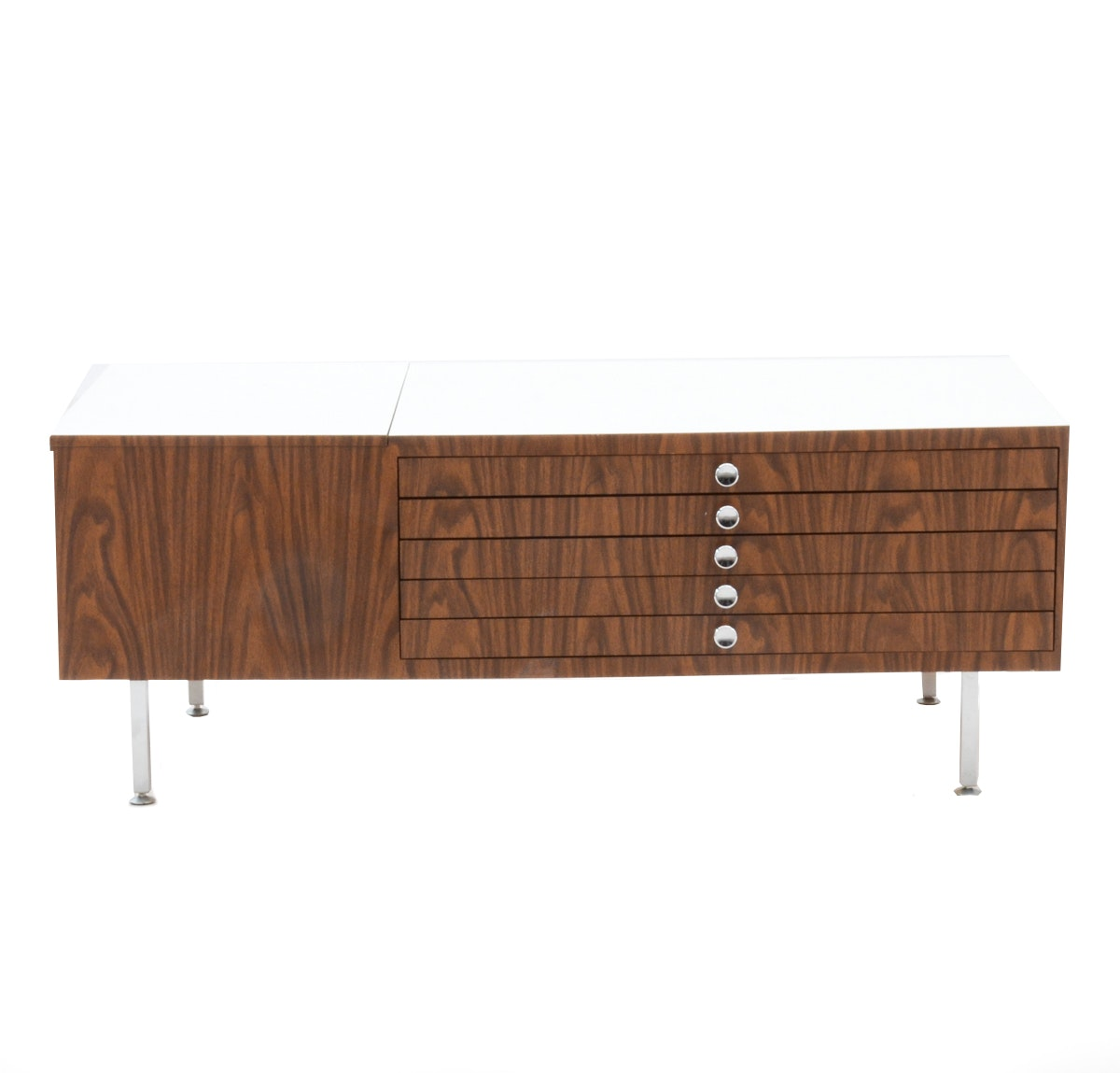 Mid Century Modern Blanket Chest with Drawers