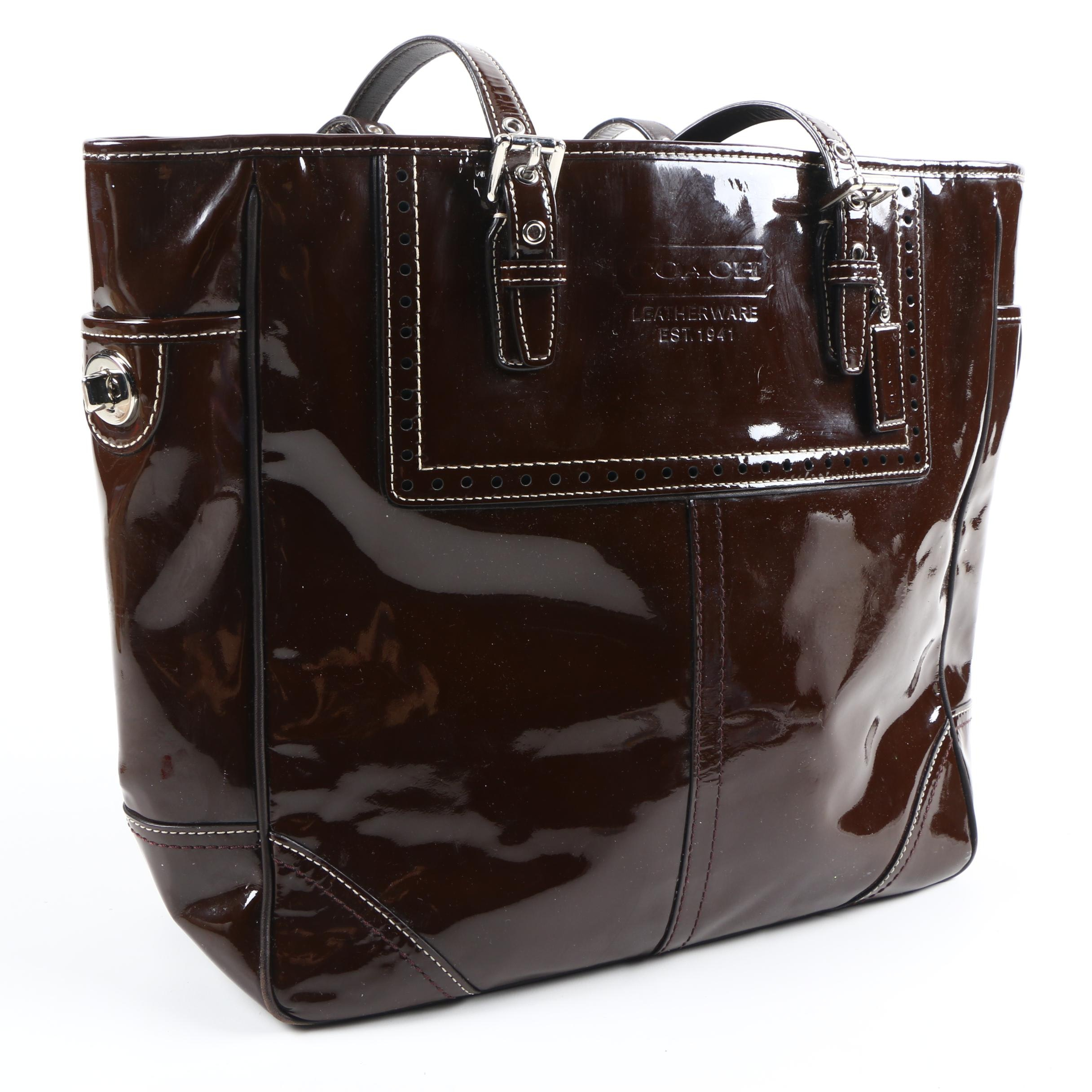 Coach Patent Leather Gallery Tote Bag