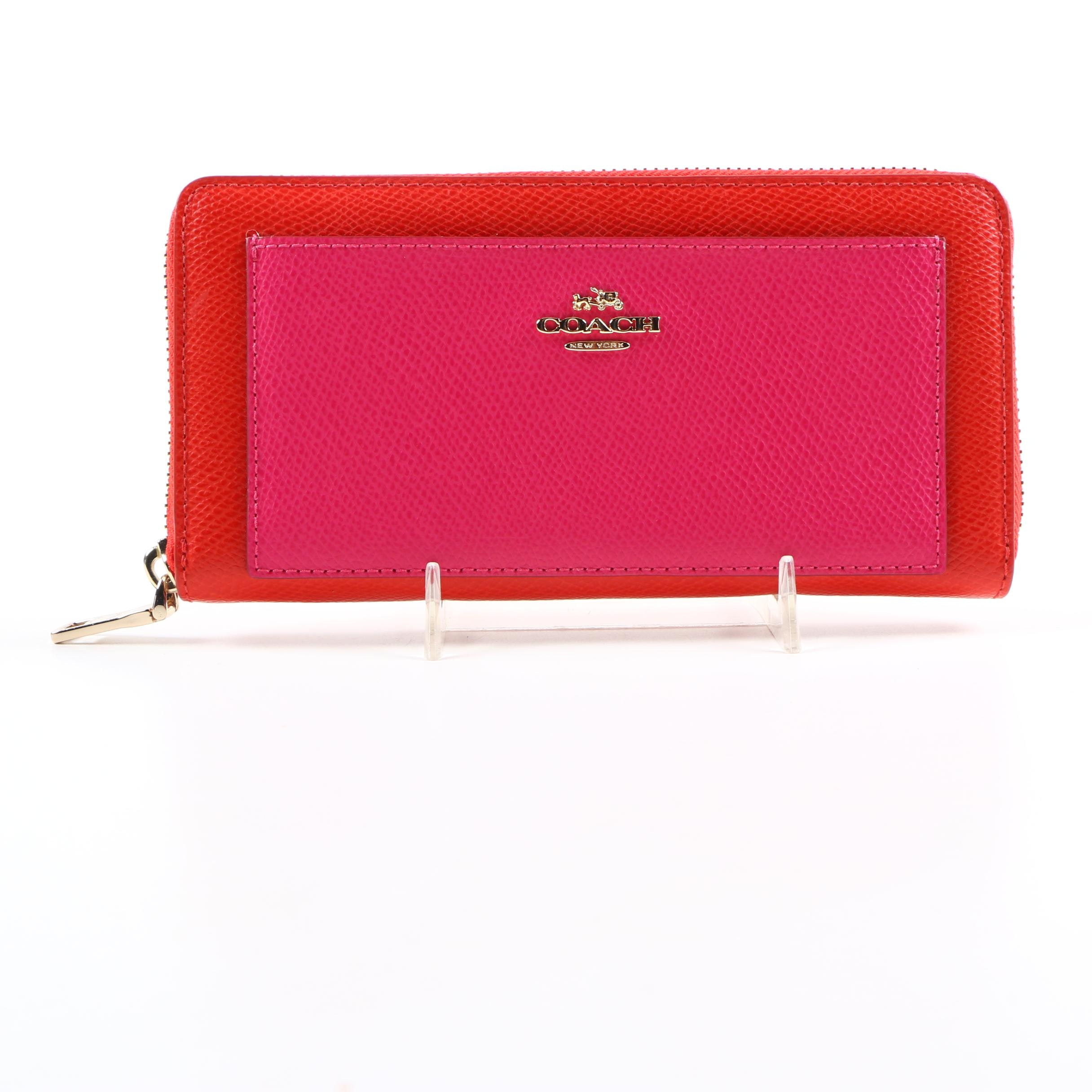 Coach Cardinal and Pink Ruby Wallet