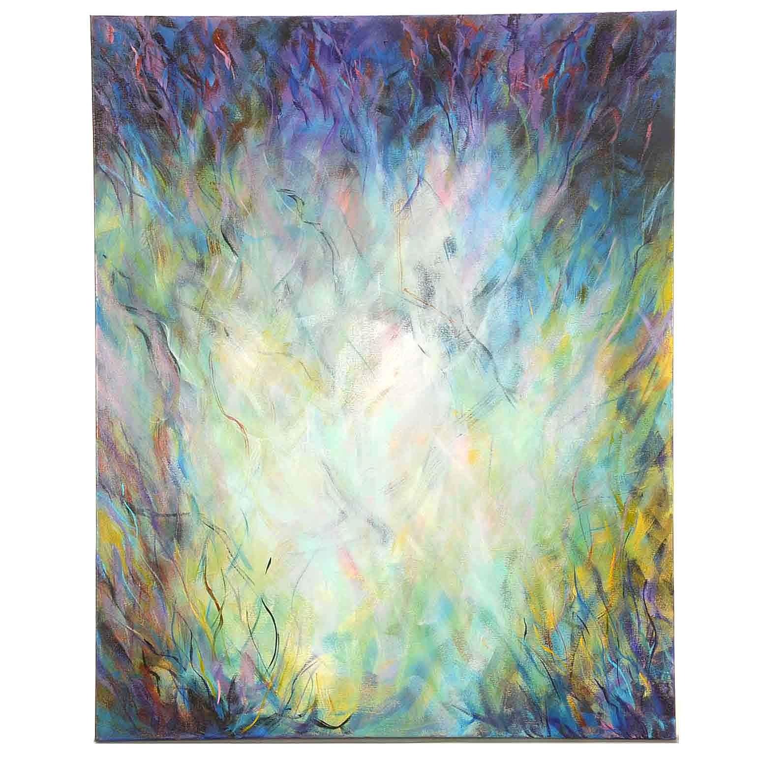 """Sanna Acrylic Painting on Canvas """"Energy Overload"""""""