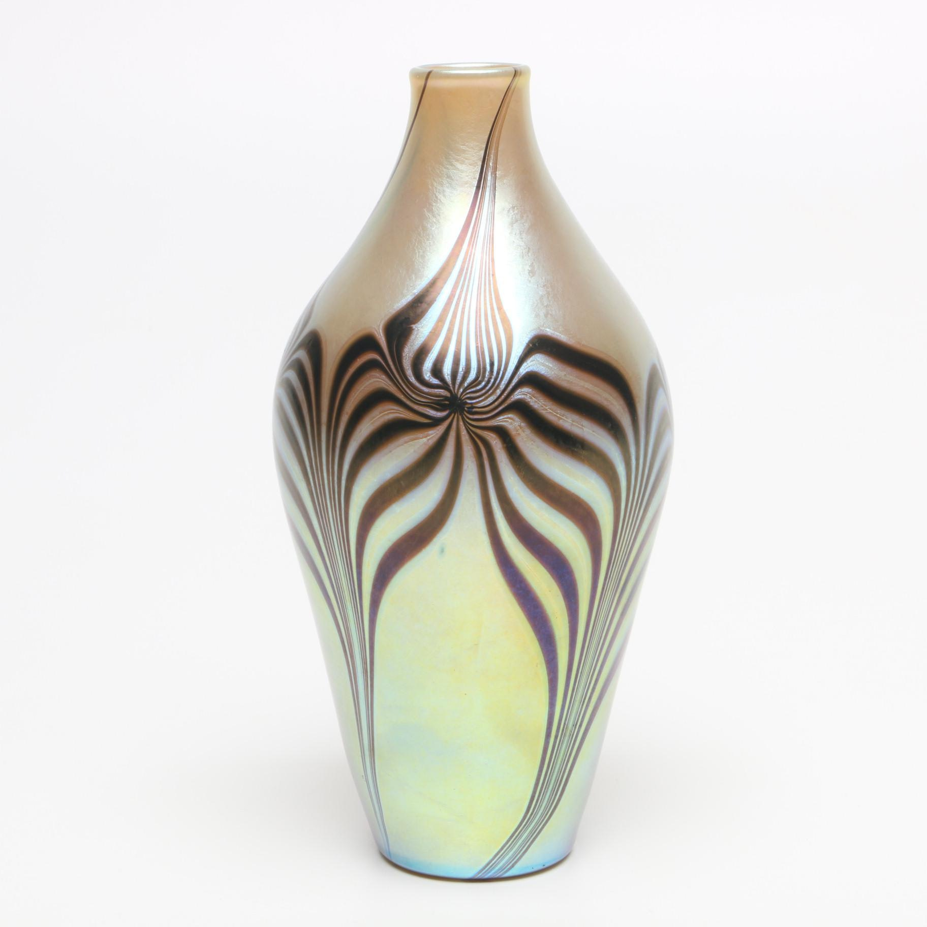 Lundberg Studio Hand Blown Art Glass Vase