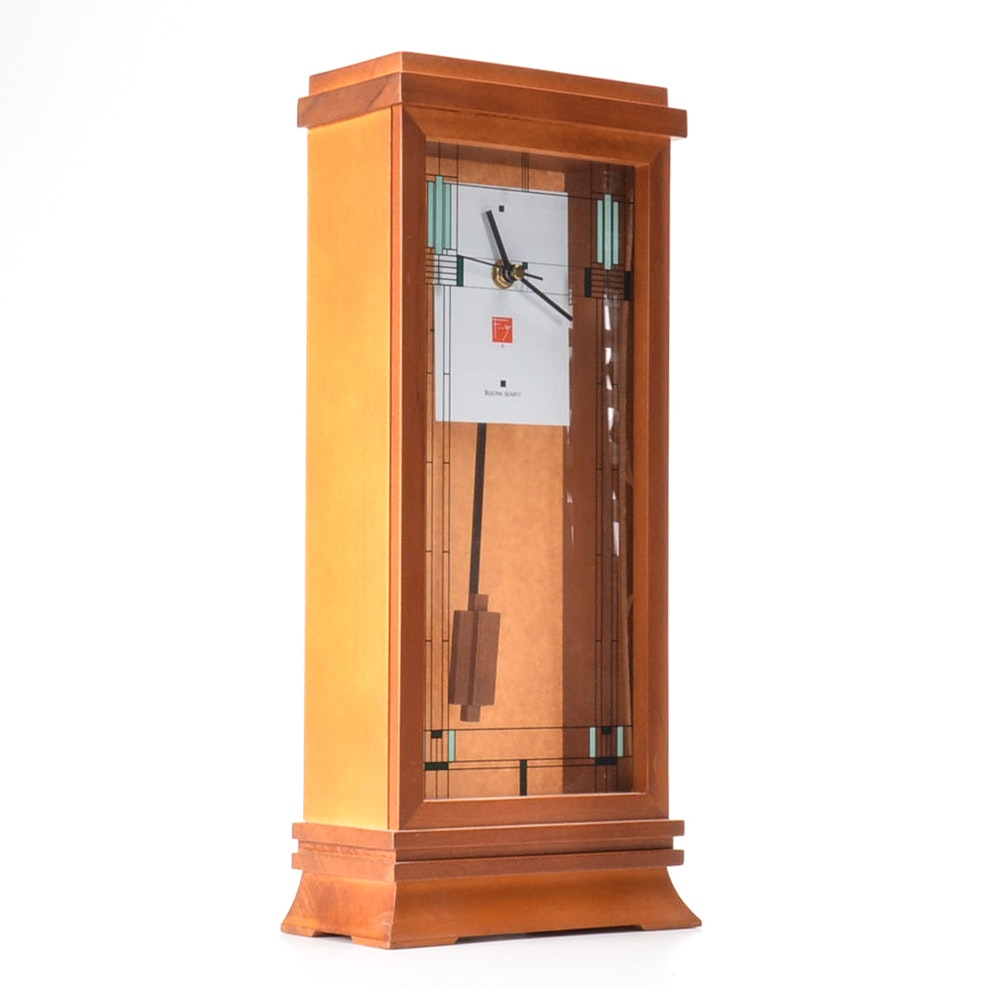 "Frank Lloyd Wright Collection ""Willits"" Clock by Bulova"