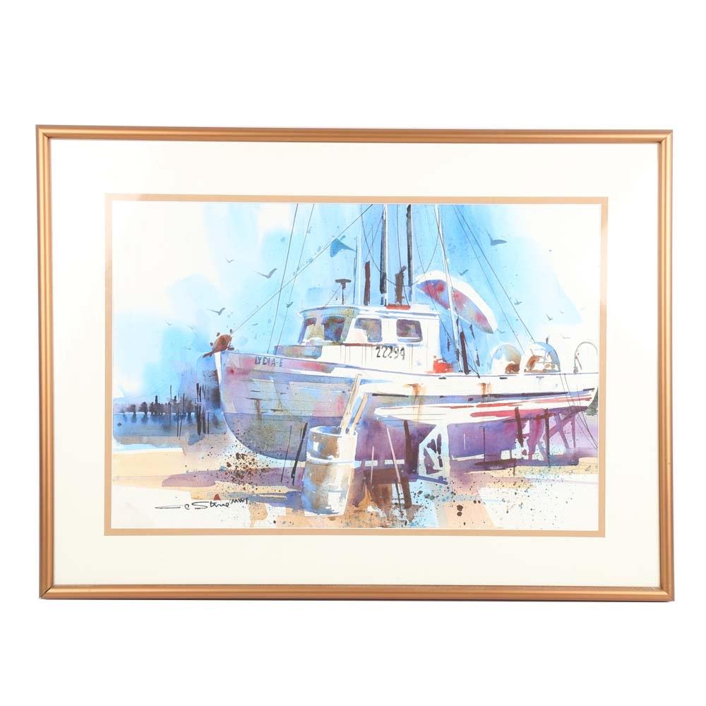 Al Stein Original Watercolor on Paper