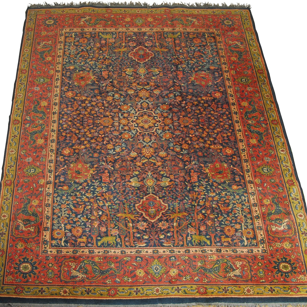 Semi-Antique Power-Loomed Hunting Rug
