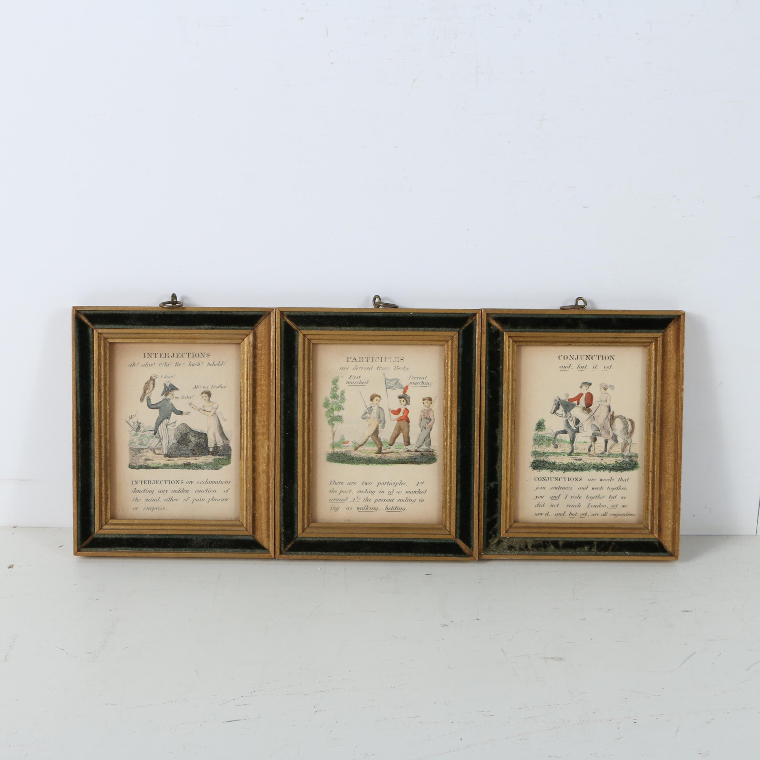Embellished Lithographs of Book Pages