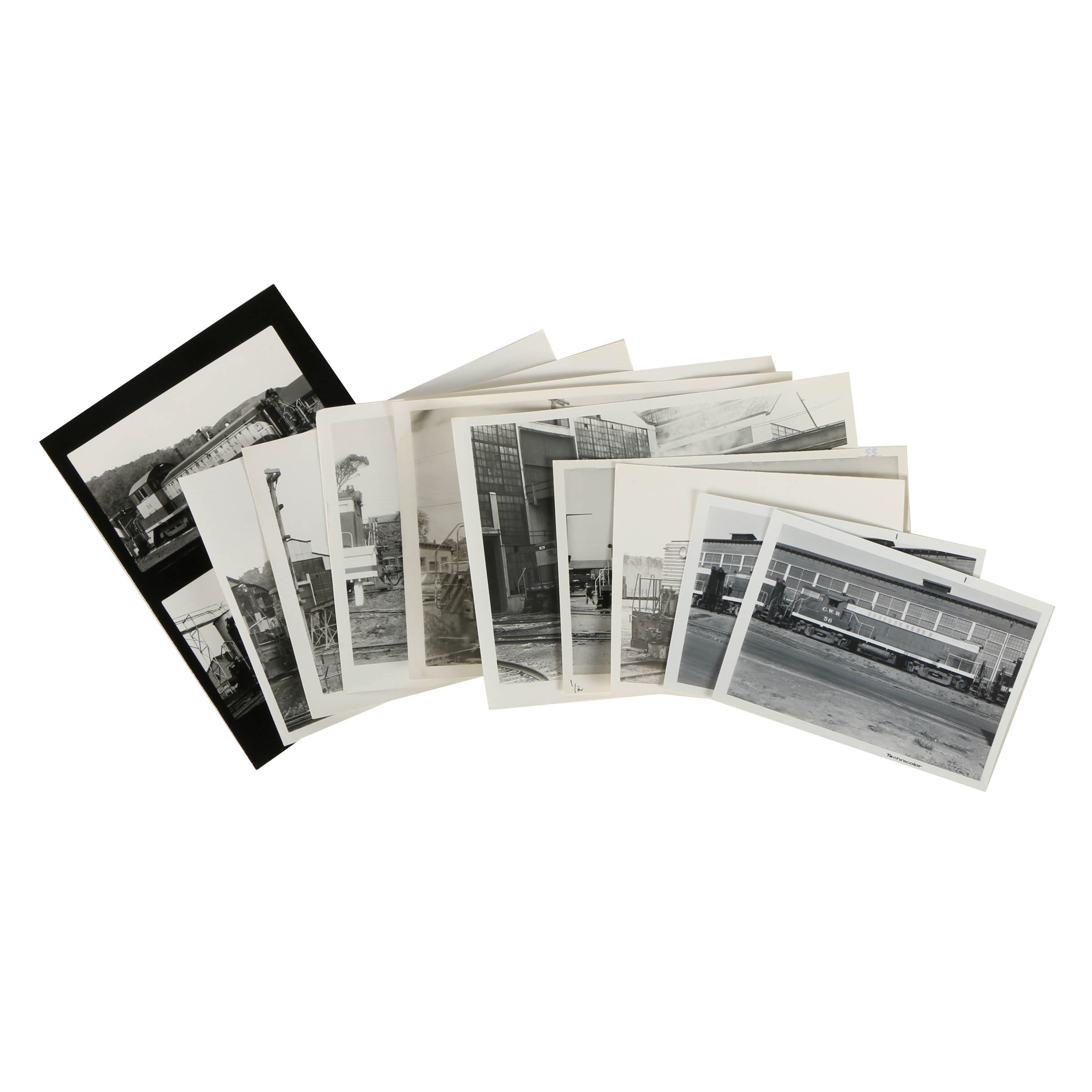 Assortment of Late 20th-Century Black and White Train Photographs