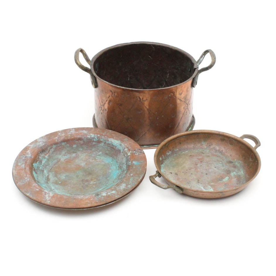 Antique Copper Pots and Plates