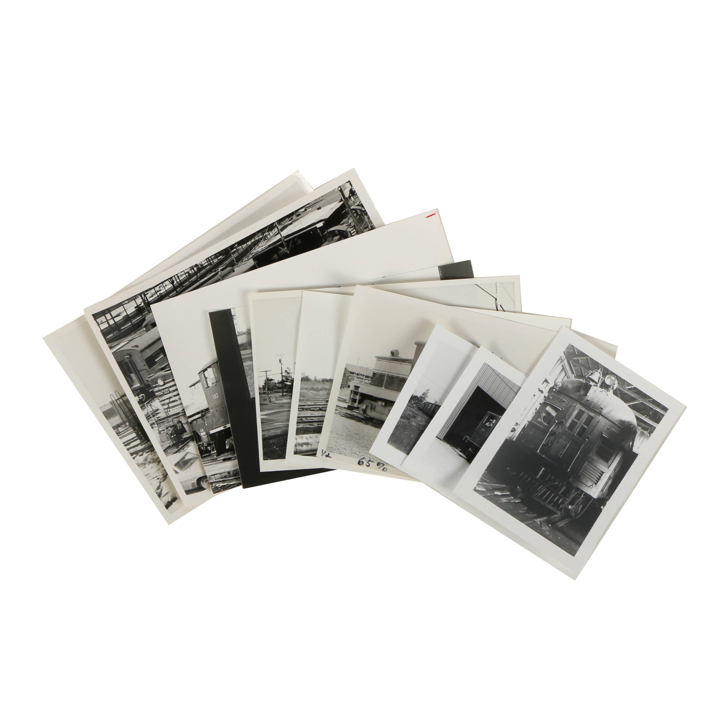 Collection of Late 20th-Century Black and White Train Photographs