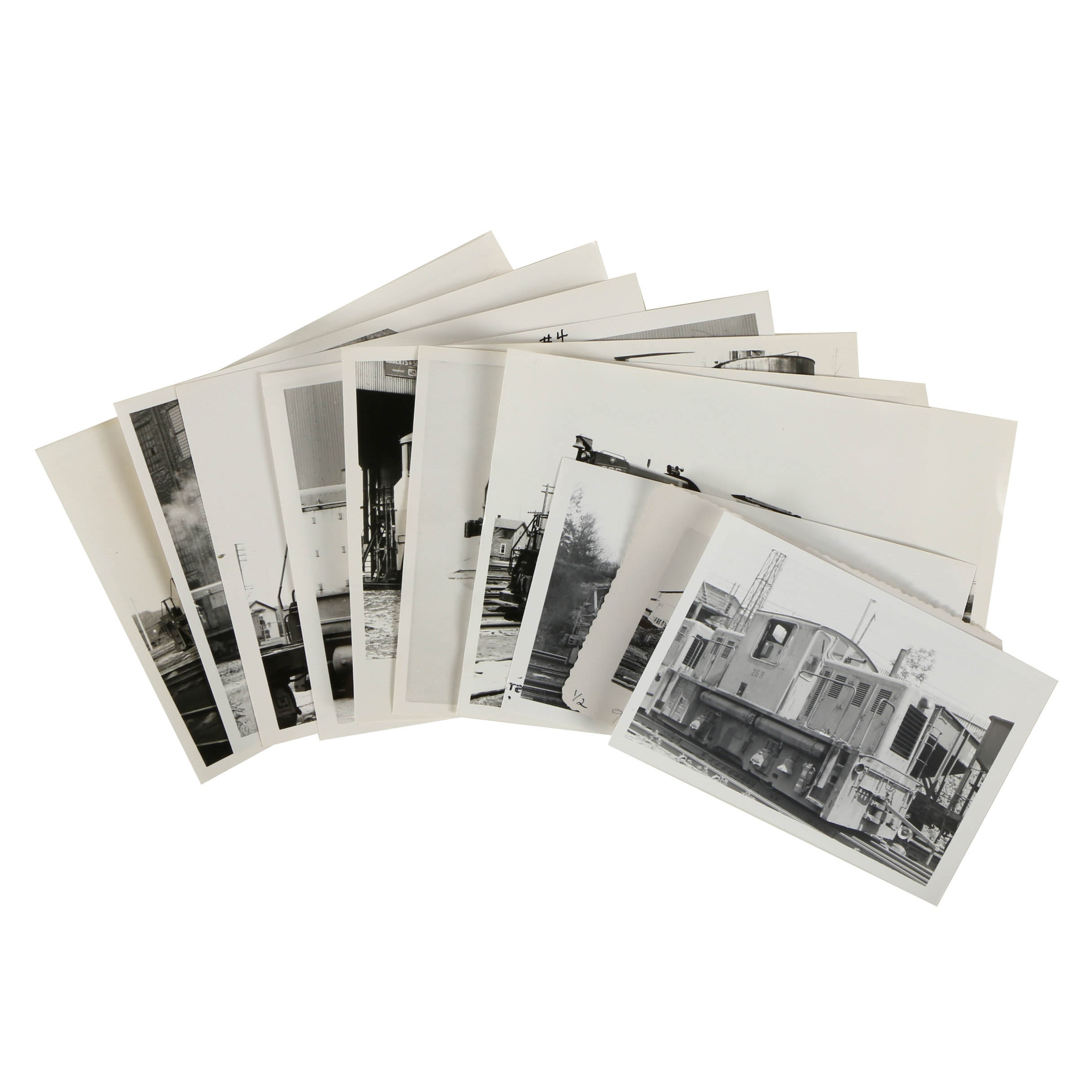 Variety of Late 20th-Century Black and White Train Photographs