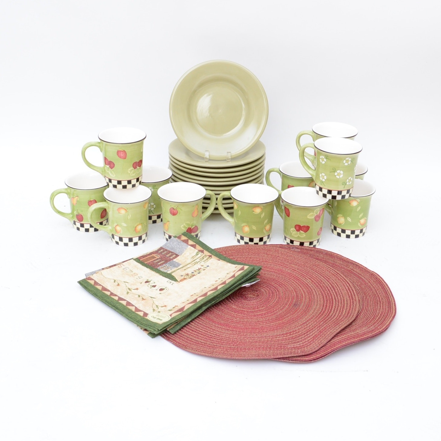 Debbie Mumm Mugs, Tabletops Gallery Plates, And Table Linens ...