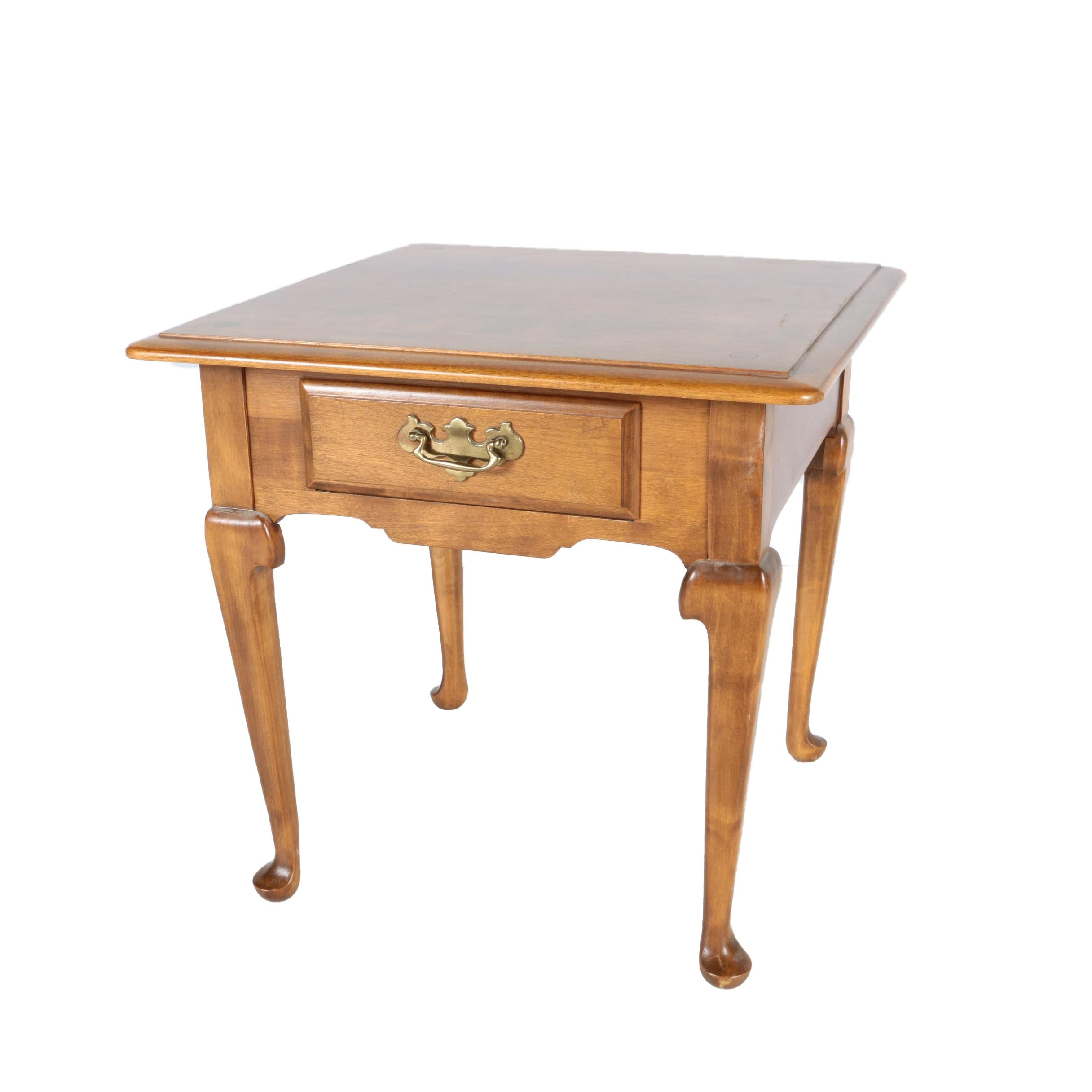 Queen Anne Style End Table by Ethan Allen