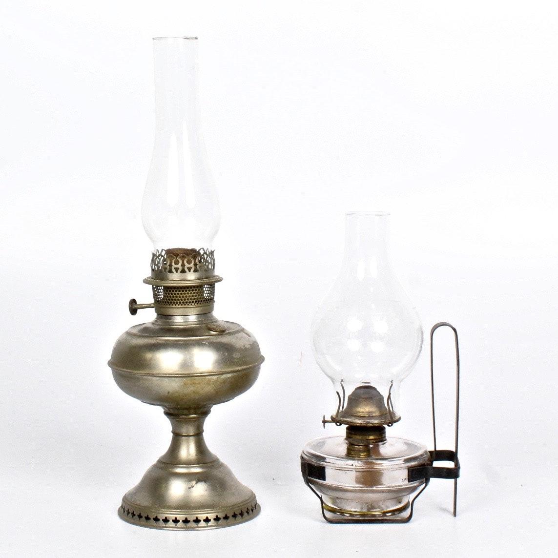 Pair of Kerosene Lamps