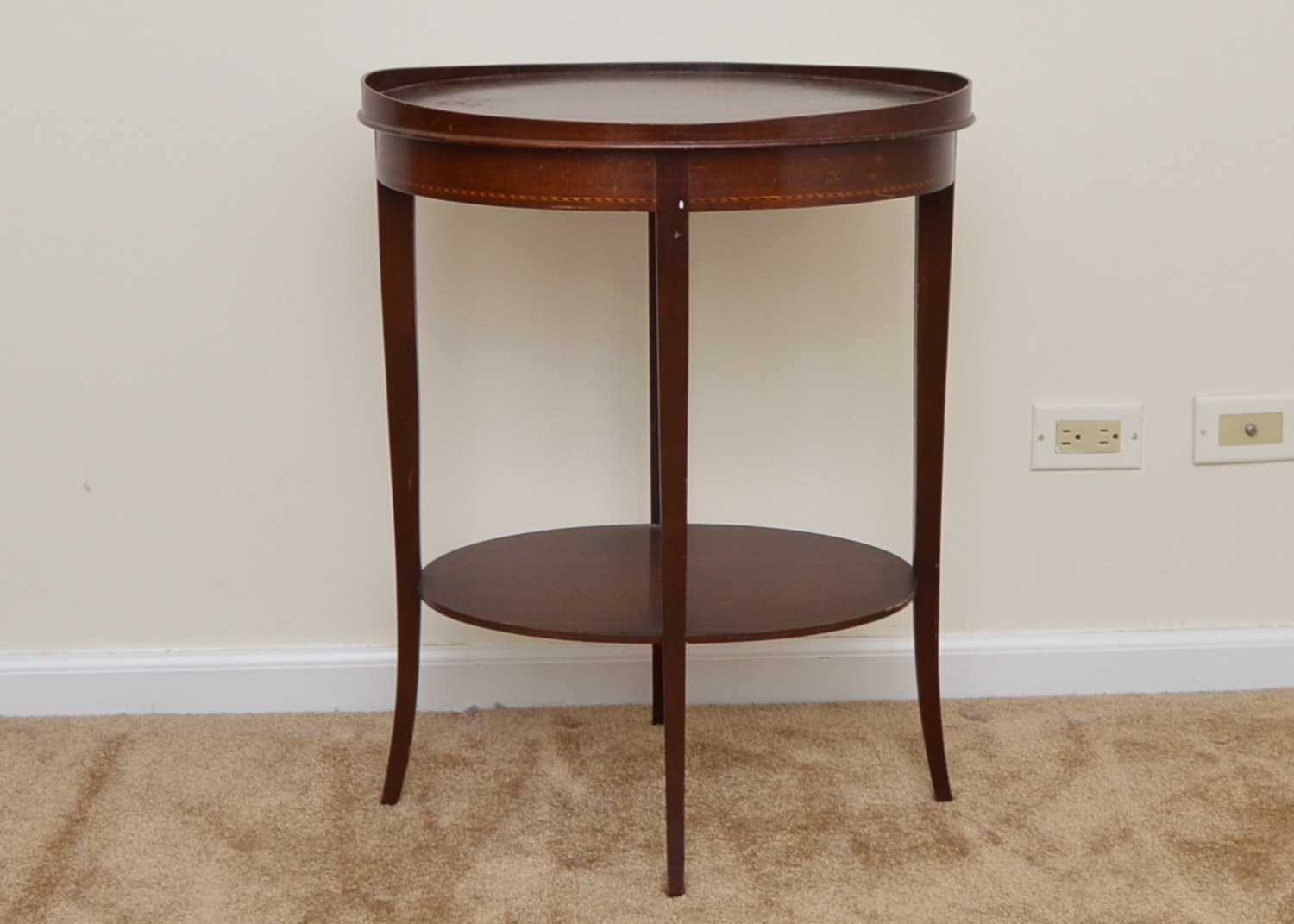 Marvelous Vintage Federal Style Mahogany Accent Table By Mersman ...