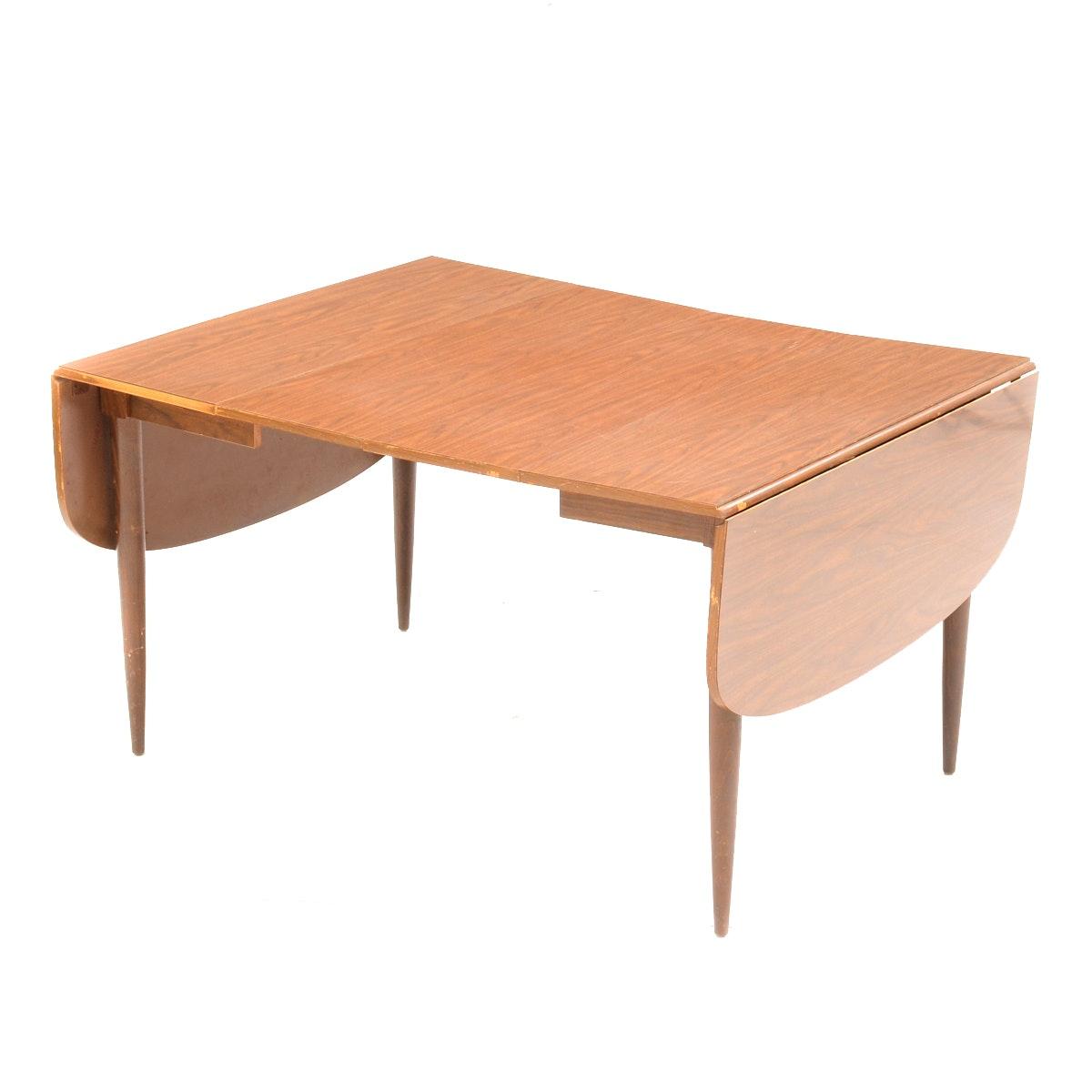 Mid Century Modern Drop Leaf Table