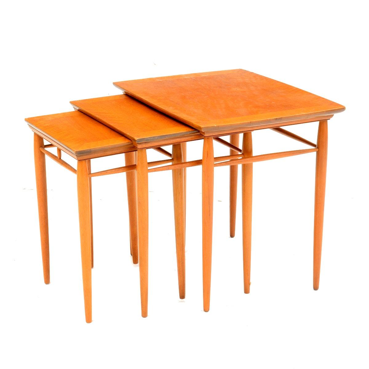 Set of Mid Century Modern Heritage Henredon Nesting Tables