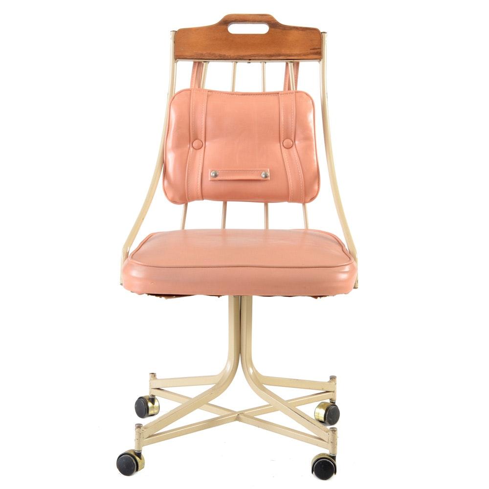 Vintage Mid Century Modern Desk Chair by Stoneville Furniture